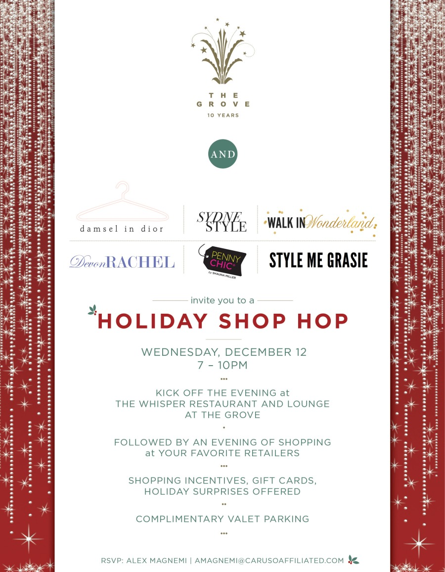 Holiday Shop Hop Evite